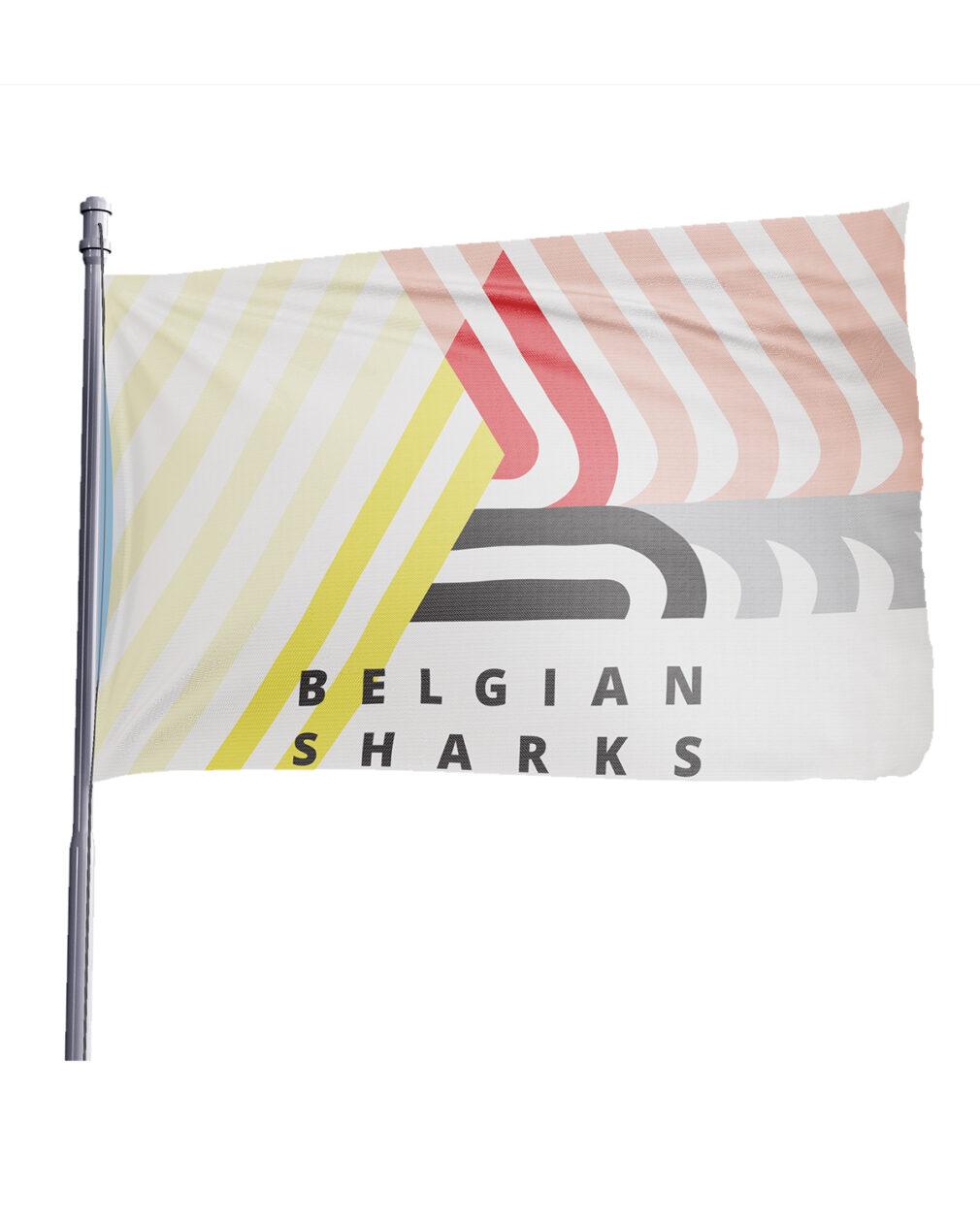Official Belgian Sharks Flag